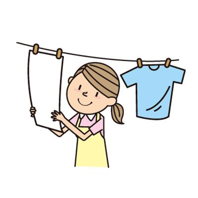 洗濯をする主婦のアイコン