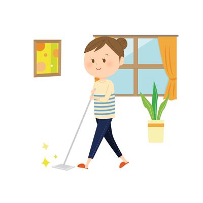 掃除をする主婦のアイコン