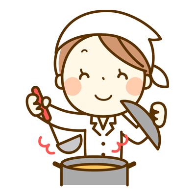 料理をする主婦のアイコン